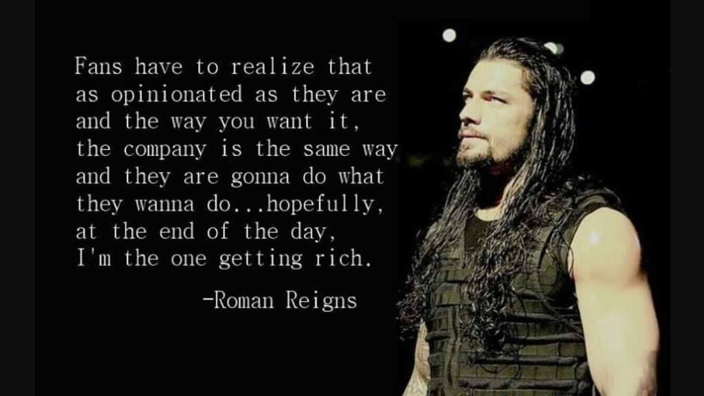 Roman Reigns Getting Rich quote
